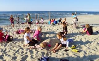plaża przy granicy UE