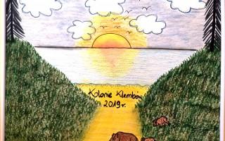 Pożegnalny rysunek od I turnusu z Klembowa